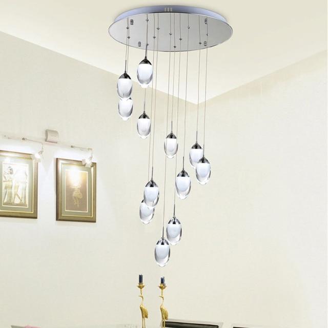 llevados modernos luces colgantes lmparas colgantes de moda decoracin casera de interior iluminacin escaleras luz blanco