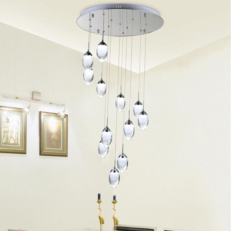 Moderne LED Lampes Suspendues Mode Pendentif Lampes Décoration de La Maison Intérieure Éclairage Escaliers lumière Blanc Chaud/Frais Blanc Pendentif Lumière