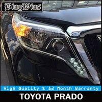 Car Styling Head Lamp for Toyota Prado Headlights LED Headlight ANGEL EYES DRL Bi Xenon Lens HID Automobile Accessories