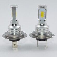 1 par 72 w h7 luzes do carro led 3000lm canbus lâmpada led branco 6000k led farol do carro lâmpada do carro 12 v 24 v h7 farol do carro estilo