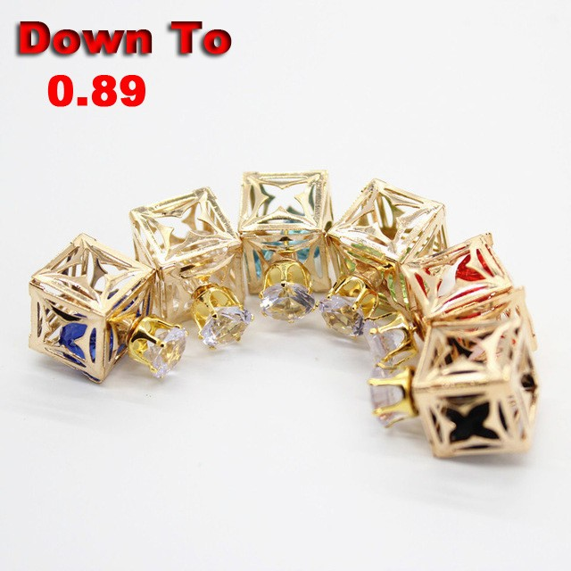 Clearance-Hollow-Zircon-Stud-Earrings-Cute-Square-Wedding-Earrings-For-Women-Promotion-Bulk-Extra-20-Off