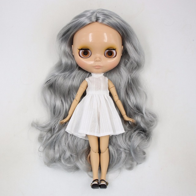 TBL Neo Blythe Doll Grey Hair Jointed Body