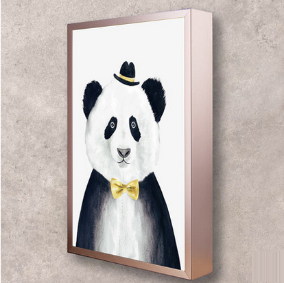 led funky artistic painting panda led lamp led light wall lamp wall light wall sconce for