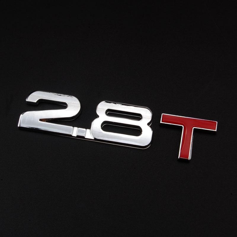 BBQ@FUKA 3D Metal 2.8T Emblem Turbo Car Sticker 2.8 T Rear Trunk Badge Decal Personality Fit for SRX 9-3 Liberty 2005-2011