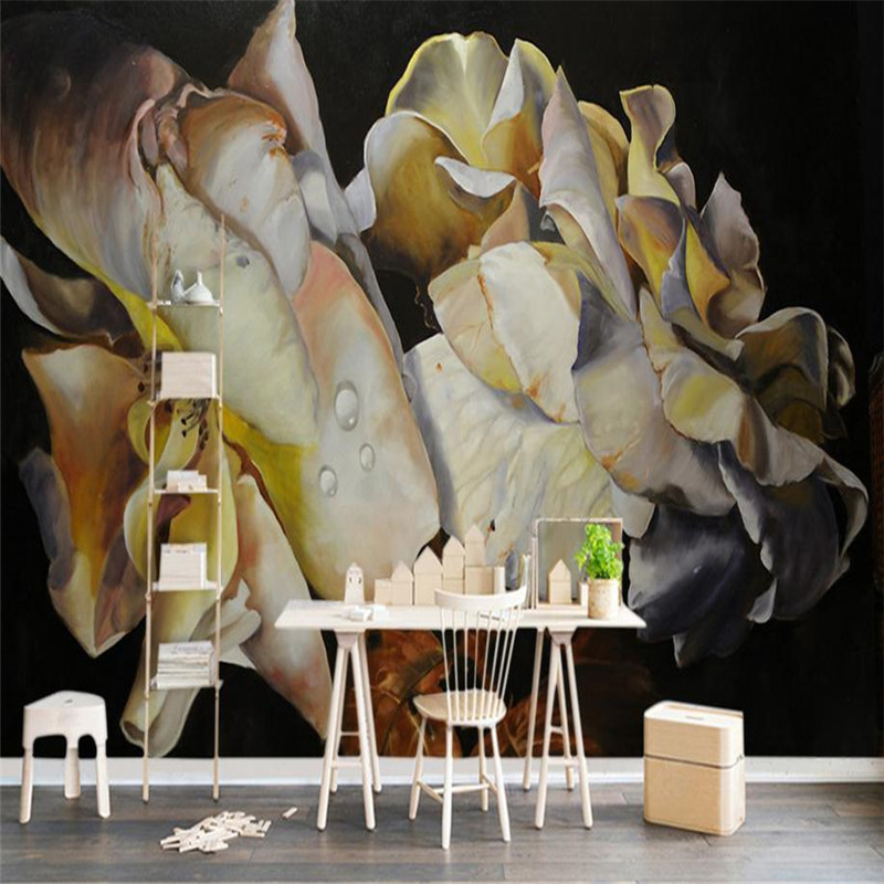 custom 3d HD  modern photo wallpaper stereoscopic background wall mural Nordic flower vintage wallpaper for living room bedroom custom photo wallpaper 3d stereoscopic cave seascape sunrise tv background modern mural wallpaper living room bedroom wall art