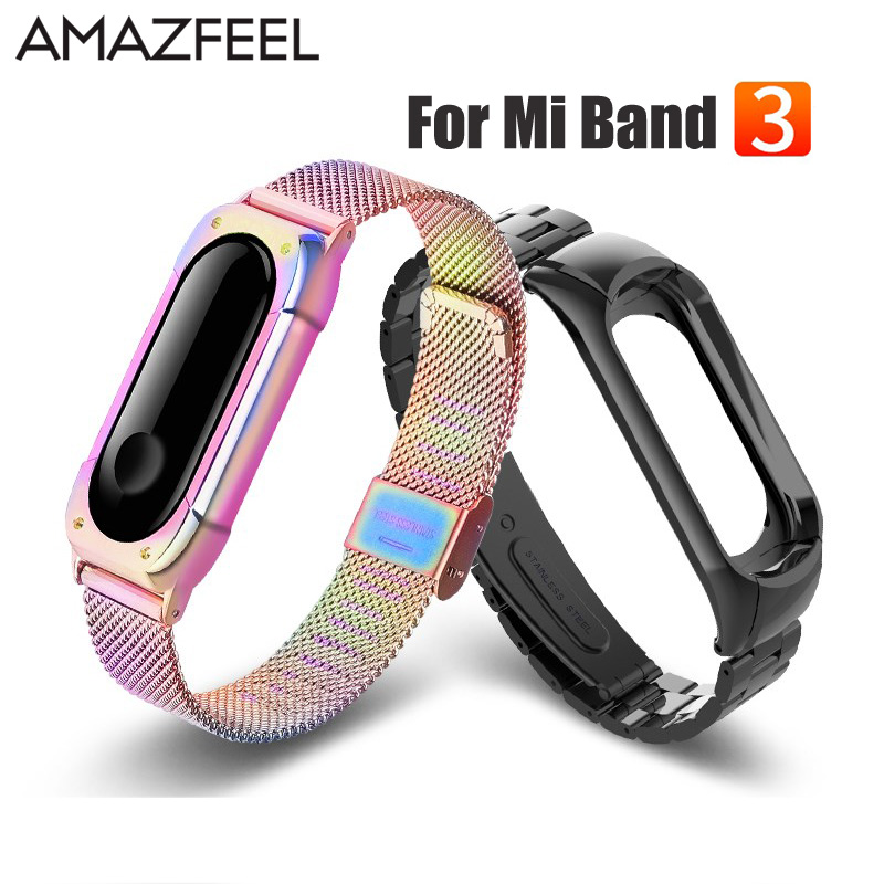 Miband 3 Strap Metal for Xiaomi Mi Band 3 Bracelet Screwless Mi Band 3 NFC Bracelets Correa Xiomi MiBand 3 Wrist Band Straps