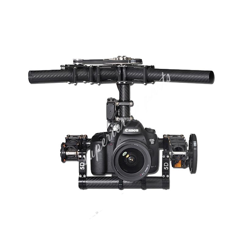 Tarot Invincible 3 axes TL100AAA 5D2 support de caméra pour DSLR 5D Mark D800 900 photo aérienne FPV TL100B01