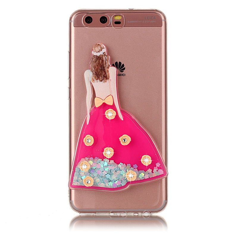 Caso de lujo Para Huawei P10 P10 Brillo de Bling Vestido de Novia ...