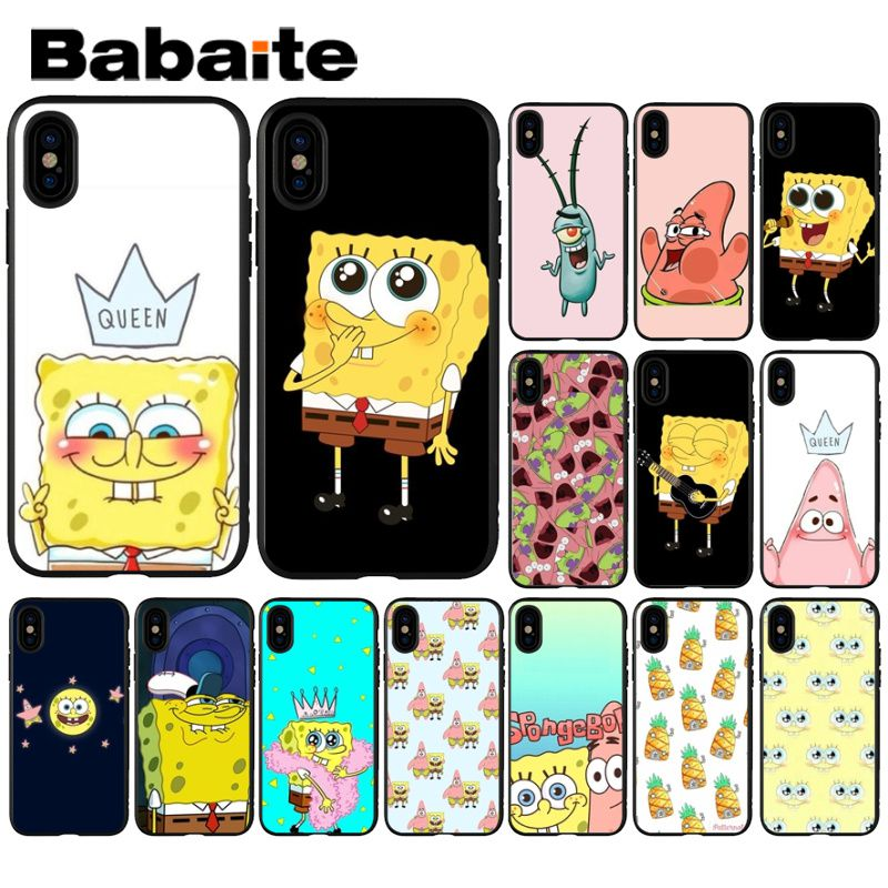 Half-wrapped Case The Best Yinuoda Cartoon Spongebob Squarepants Diy Luxury Case For Iphone 8 7 6 6s Plus X Xs Max 5 5s Se Xr 10 Cover Capa Phone Bags & Cases