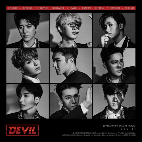 SUPER JUNIOR Special Album - DEVIL Release Date 2015-7-16 KPOP super junior kyuhyun 1st mini album at gwanghwamun release date 2014 11 13 kpop