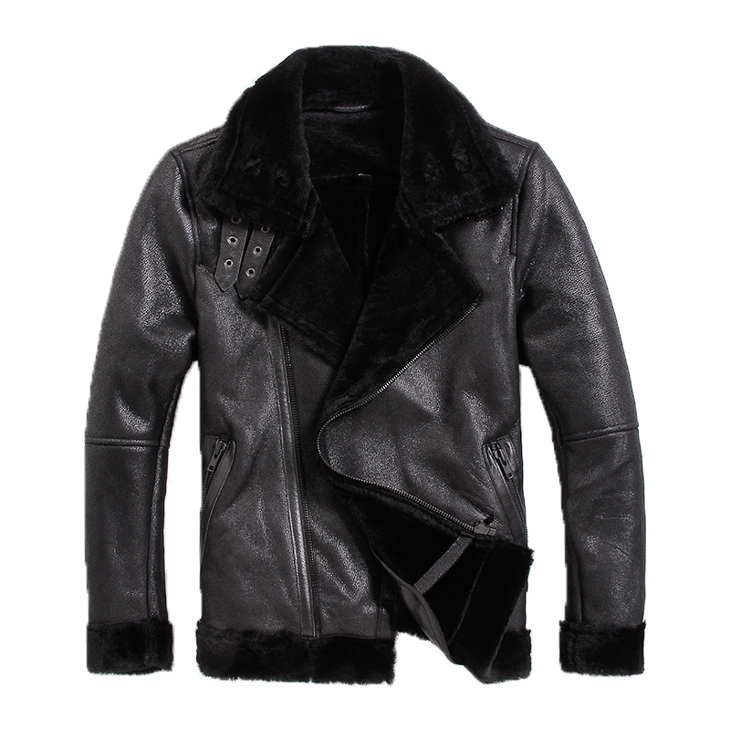 Free shipping,Brand new mens motorbiker leather Jackets,man genuine Leather jacket.woo,fur,winter warm Shearling coat.sales