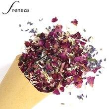 Натуральные свадебные конфетти FRENEZA, высушенные лепестки роз, поп-биоразлагаемые лепестки для украшения свадьбы и вечеринки, 1 шт.