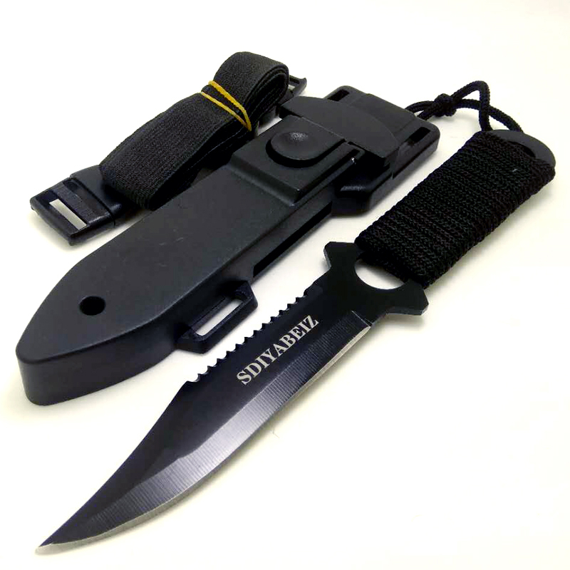 Hunting Knife Fixed Blade Stainless Steel Multifunction Tactical Knives Outdoor Camping Survival Hand Tool Knife SDIYABEIZ