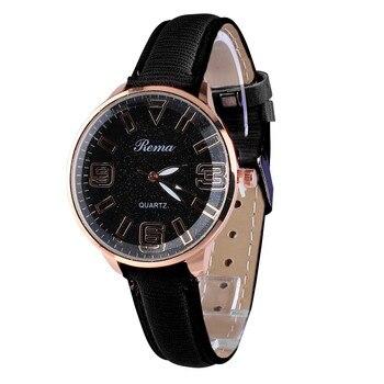 Rema Ladies Watch Fashion Luxury Starry Dial Convex Glass Quartz Leather Belt women watches woman watch 2019 bayan kol saati Переносные часы