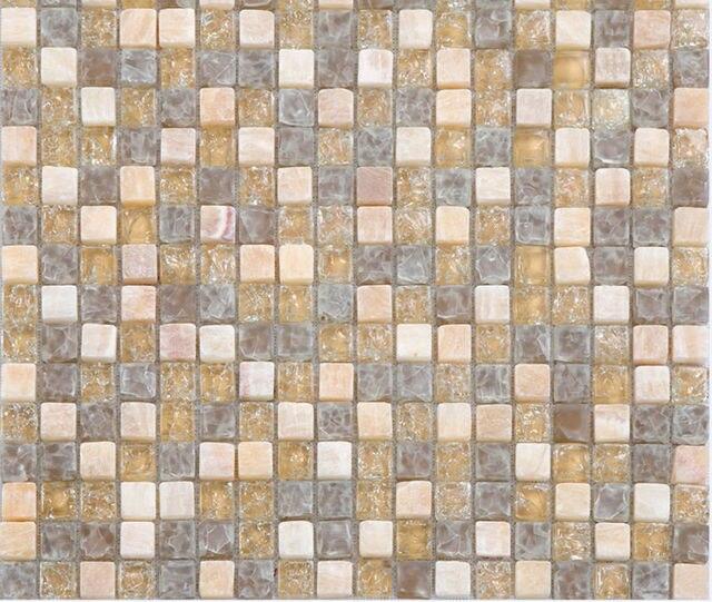 Spanish Marble Stone Matt Glass Mosaic Tiles For Kitchen Backsplash