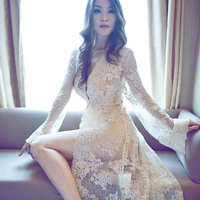Maternity photography props pregnancy lace gown maternity dresses pregnant clothing photo shoot sexy transperant long style
