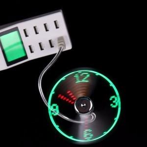 Image 4 - Ventilateur USB Mini horloge LED pour ordinateur portable, Notebook, affichage de lheure, affichage de la température en temps réel, ventilateur USB