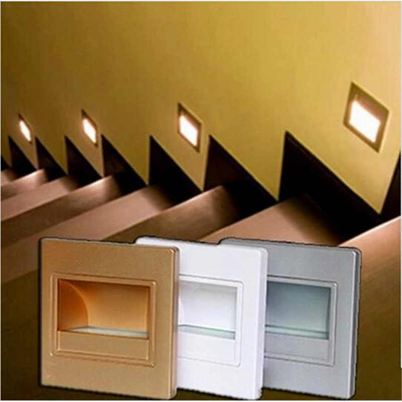 Recessed Led Stair Light New Lamps Arandela Modern 100 240v 2.5W Wall Lights  In Step Lamp Indoor 6pcs/lot In Wall Lamps From Lights U0026 Lighting On ...