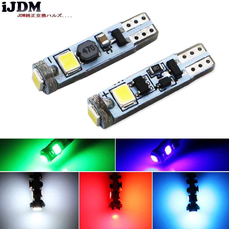 iJDM 4pcs Canbus T5 <font><b>Led</b></font> Car <font><b>Led</b></font> Light 74 73 286 Car Dash Dashboard <font><b>LED</b></font> Instrument Panel Light Bulb For BMW <font><b>E36</b></font> E34 E32 E38 E31 image