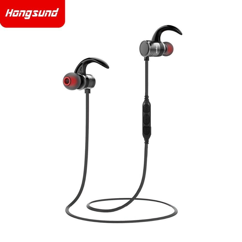 HS1 Headphones IPX5 Waterproof Magic Magnet Attraction Bluetooth 4.1 Sports Earphones with Microphone Hongsund 12h talking