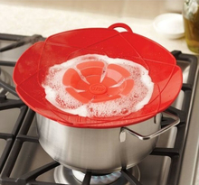 Nova Chegada Cozinha Gadgets Silicone Lid Spill Stopper Tampas De Panela De Cozimento Utensílio Pot Tampa 28.5 cm de Diâmetro(China (Mainland))
