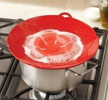 Новое поступление Кухня гаджеты силиконовая крышка разлива пробка горшок крышка см 28,5 см диаметр пособия по кулинарии крышки посуда