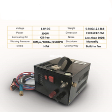 Compresor de aire PCP portátil, 12V, con transformador para tanque de llenado de Rifle 5,5 Rir