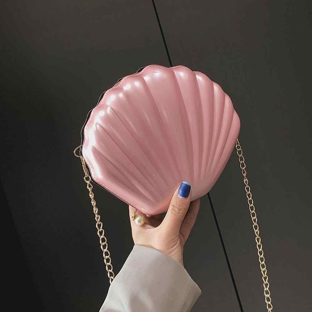New Fashion Brand Crossbody Bag Design Jelly Sweet Shell Chain Shoulder Bag Clutch Girl's Messenger Bag Handbag bolsa feminina