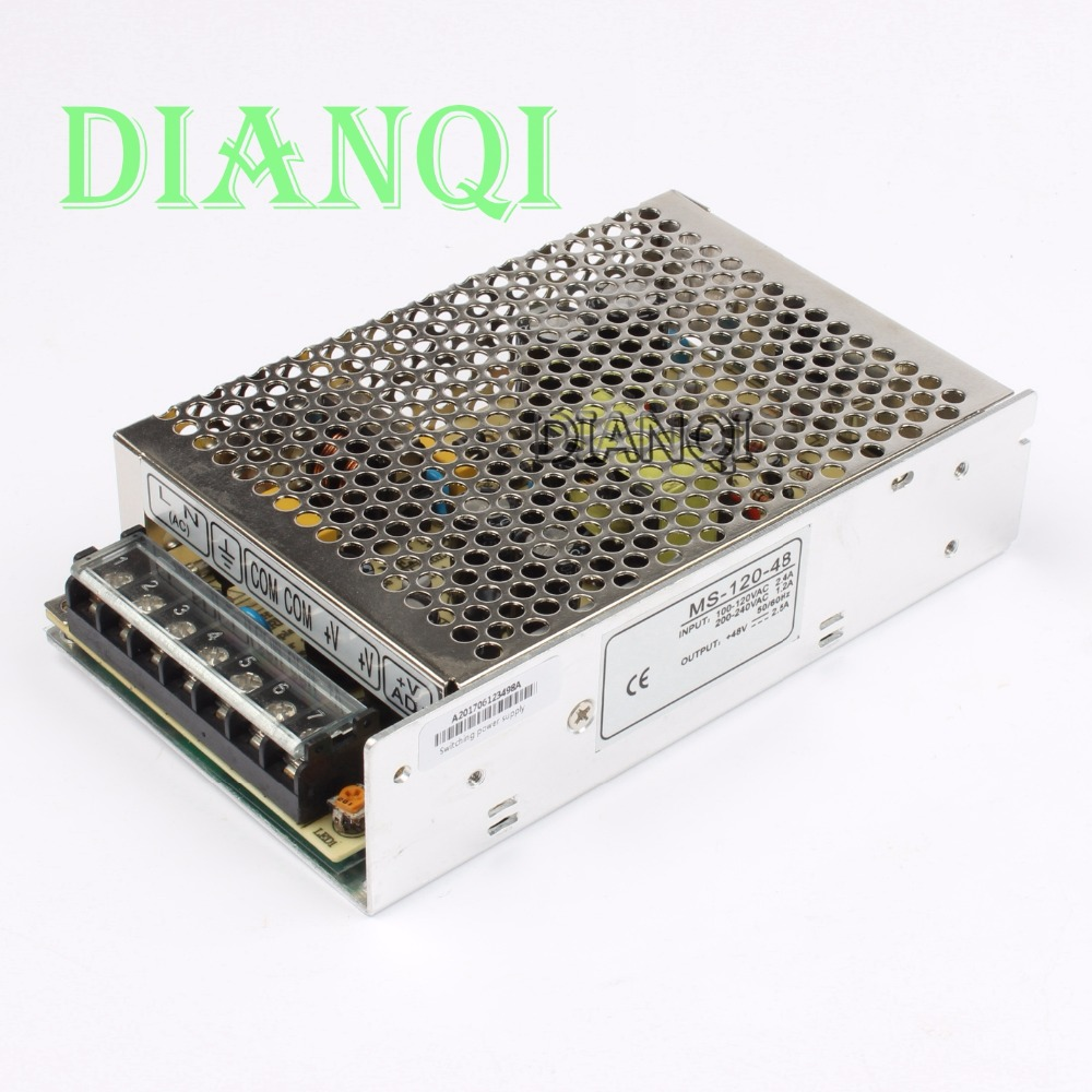 все цены на DIANQI power supply 120W 48V 2.5A power suply 120w 48v mini size power supply unit  ac dc converter ms-120-48