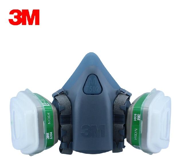 3m 7502 Respirator Half Facepiece Reusable Respirator Mask Ammonia Methylamine Organic Vapor Cartridges Filters Fire Protection Fire Respirators