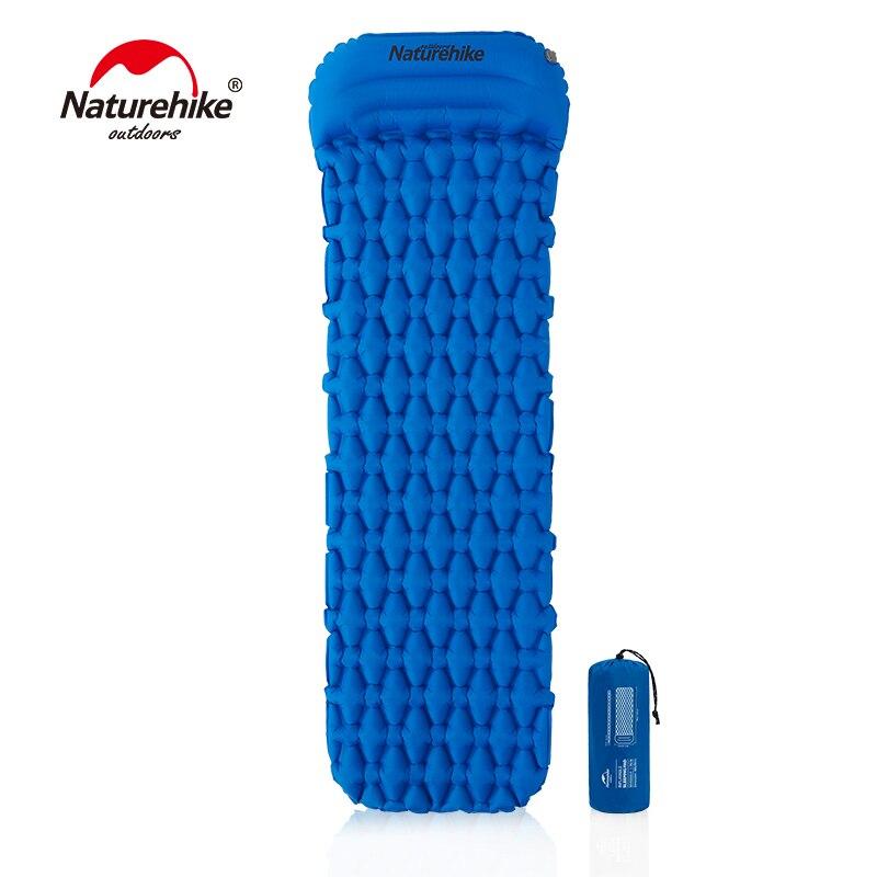 Naturehike Nylon TPU Camping Mat Sleeping Pad Lightweight Moistureproof Air Mattress Portable Inflatable Mattress with pillow