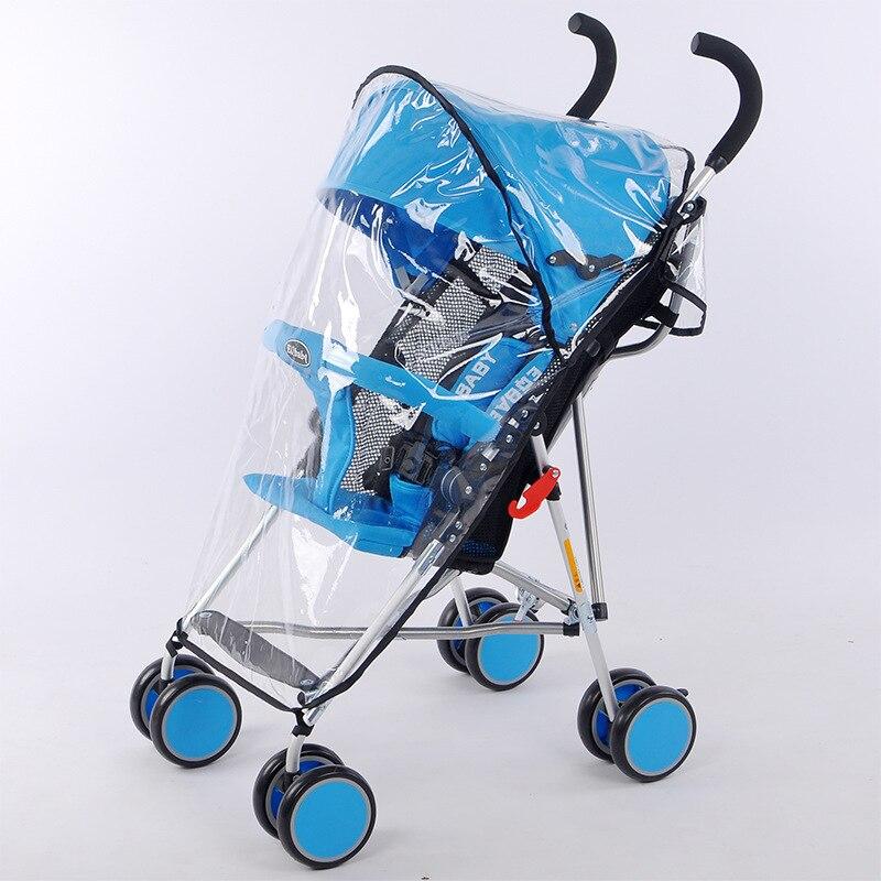 Waterdichte regenhoes voor kinderwagen accessoires Transparante Winddicht regenjas voor baby winkelwagen Rits opent Kinderwagens 3