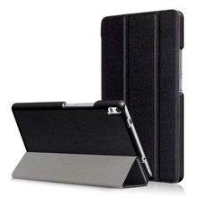 Soporte magnético PU Cubierta elegante de cuero para Lenovo Tab 4 8 Más 8704 TB-8704F TB-8704N Pantalla caja de la Tableta + 2 Unids Protector