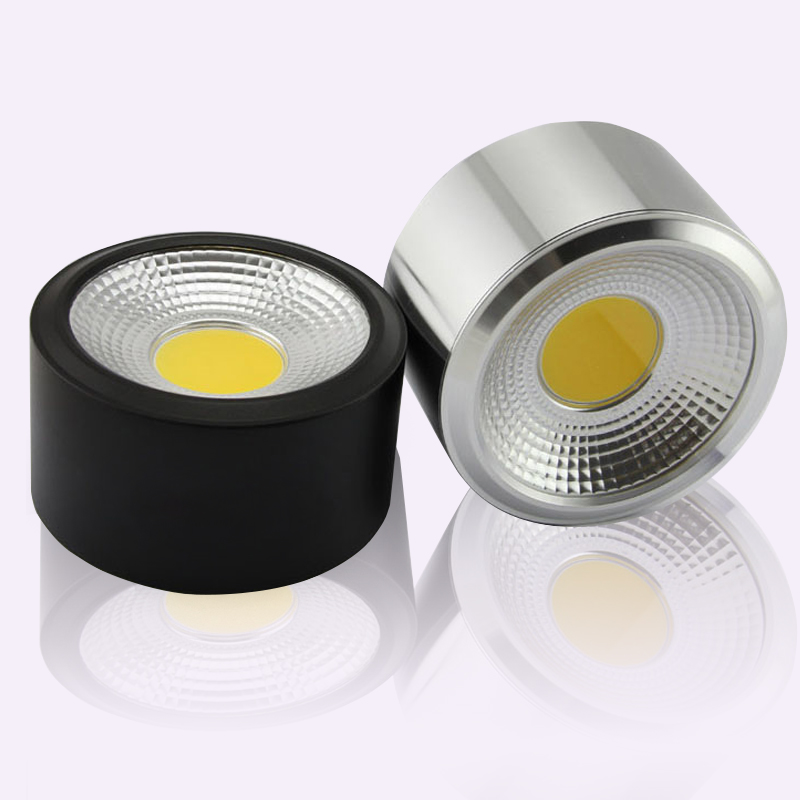 No cutting ceiling 3W 5W 7W 10W 15W COB LED Downlight Round, clothing, exhibition, decorative lighting ceiling Down Light