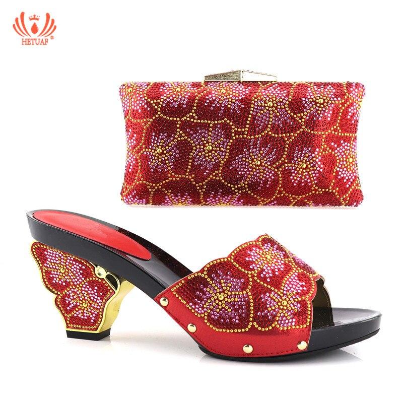 Sac Mariage Rouge Africain or La Africaine Italiennes Haute Partie Assorti Chaussures Noir Qualité Couleur rouge Ensemble Et bleu Avec Pour pourpre De 7qStrq