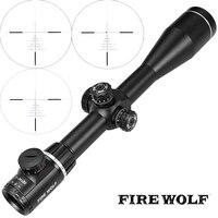 Огненный волк QZ 6 24X50 Z600 сторона Параллакс Оптика прицел прицелов тактический Снайпер прицел для винтовки страйкбол