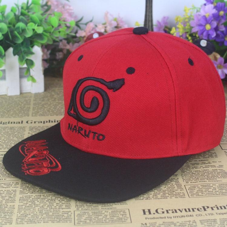 50bcfe4ed2750 2015 Naruto aleros planas hip hop gorra de béisbol plana a lo largo del  sombrero bordado topi anime en Disfraces fiestas mujer de La novedad y de  uso ...