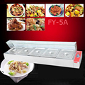 1 шт. FY-5A коммерческий Электрический кухонный комбайн и даже кухонные плиты для сохранения пищи quipment с 5 горшками