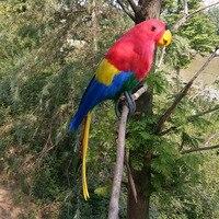 Large 45cm Macaw Bird Model Foam Feathers Simulation Colourful Parrot Bird Handicraft Home Garden Decoration Gift