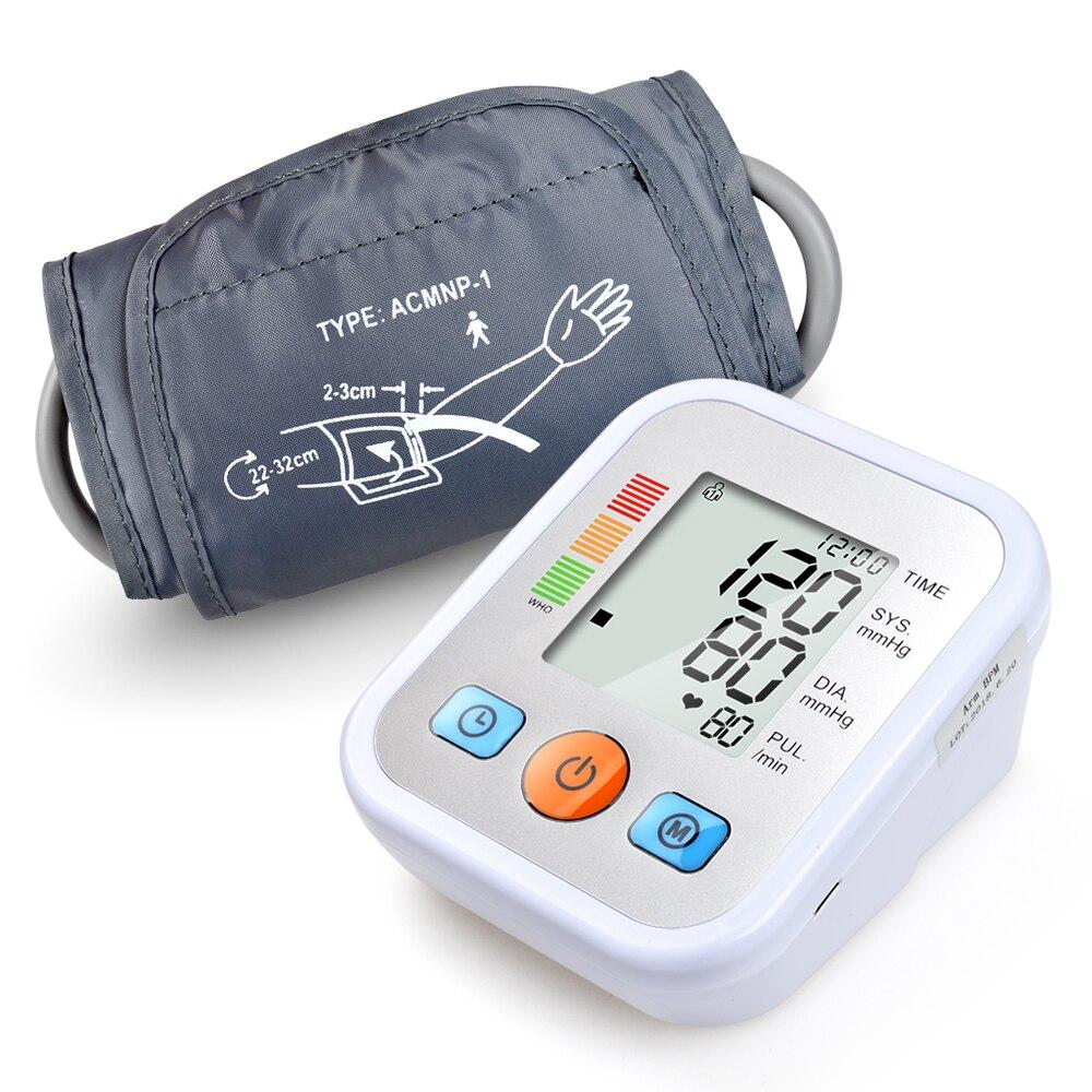 ELERA CE FDA LCD Digitale Automatische Arm Blutdruck Monitor Tonometer Meter Blutdruckmessgerät Tragbare Tensiometro Manschette