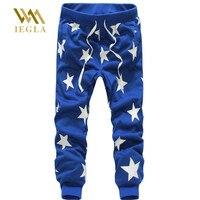 נקניקיות מכנסיים רצים מכנסיים מקרית מכנסי טרנינג היפ הופ Loose כוכב הדפסת מכנסיים גבריים מכנסי הרמון ריקוד רחוב Hiphop גברים