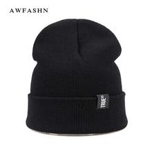 2017 New Fashion Beanies Winter Cap Skullies Knit Hat For Women Men Balaclava Bonnet Labeling Letter