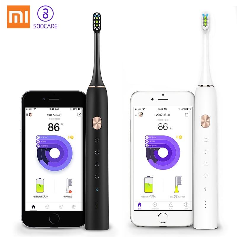 Xiao mi jia cepillo de dientes Soocare X3 Soocas actualizado eléctrico Sonic inteligente limpio Bluetooth impermeable de carga inalámbrico mi casa APP