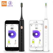 Xiao mi Цзя Зубная щётка Soocare X3 Soocare обновлена Soocas Sonic Smart чистой Bluetooth Водонепроницаемый Беспроводной зарядки mi приложение Home