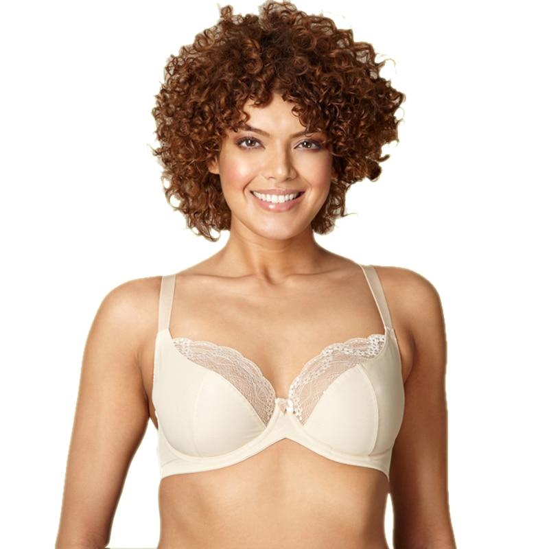 MiaoErSiDai Sexy Unlined Bra  Brassiere Lace Bras For Women Plus Size 34 36 38 40 42 44 D DD DDD E F