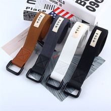 Canvas Simple Women Belts Waist Band High Quality Casual 2019 New 110cm Black White Belt Luxury Jeans Accessories