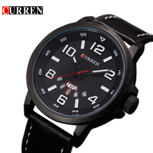 Curren 8240 marque de luxe montre à quartz Occasionnel De Mode En Cuir montres reloj masculino hommes montre Sport Montres