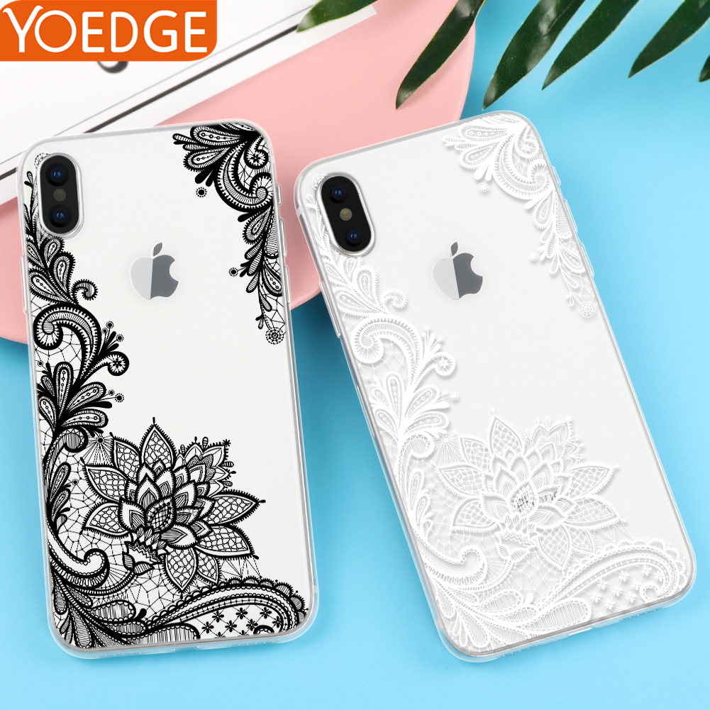 Floral Sexy Lace Mandala Case For iPhone X 8 7 6 6S Plus 5