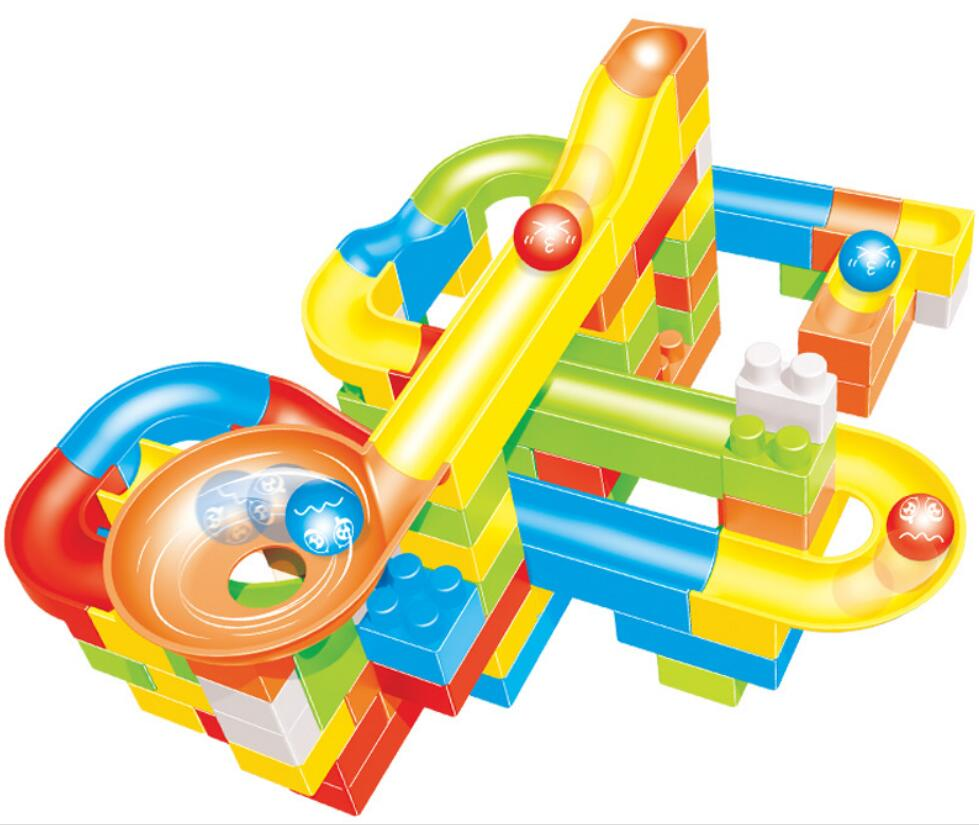 Children's Toys Big Particles Variable Assembly Ball Track Insertion Puzzle Building Toys Gift