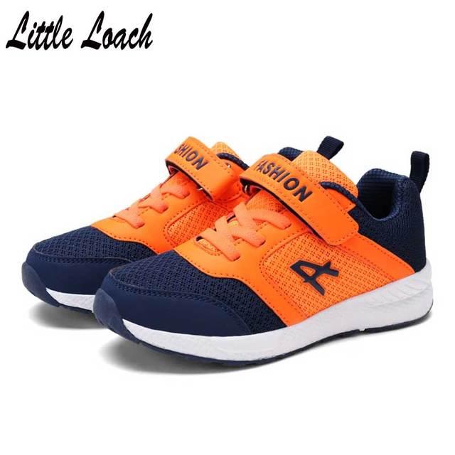 95a92e3fcc9 Tamaño 28-39 Niños Niñas moda sneakers adolescente escuela Zapatos suave  ligero chaussure deporte Zapatos
